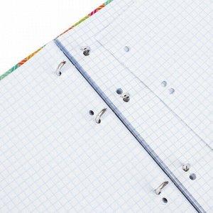 """Тетрадь на кольцах А5 (175х215 мм), 120 л., картонная обложка, клетка, глянцевая ламинация, BRAUBERG, """"Узор"""", 403276"""