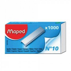 """Степлер №10 металлический MAPED """"Universal Metal"""", до 12 листов, + 400 скоб, серый, 043500"""