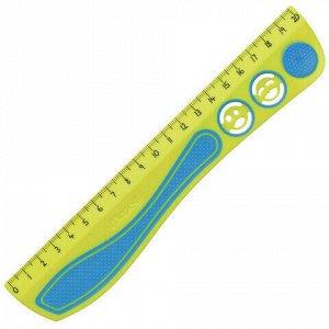 """Линейка MAPED (Франция) """"Kidy'Grip"""", 20 см, пластиковая с резиновыми вставками, нескользящая, с трафаретами, 278710"""