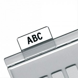 Картотечные индексные окна HAN (Германия), комплект 10 шт., для разделителей А4, А5, А6, прозрачные, НА9001