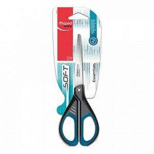 """Ножницы MAPED (Франция) """"Start Soft"""", 170 мм, прорезиненные ручки, черно-синие, картонная упаковка с европодвесом, 468210, 467210, 468210"""