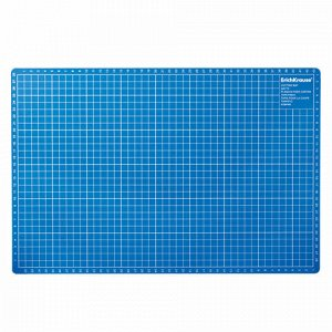 Коврик-подкладка настольный для резки А3 (450х300 мм), сантиметровая шкала, синий, 3 мм, ERICH KRAUSE, 19272