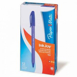 """Ручка шариковая PAPER MATE """"Inkjoy 100"""", ФИОЛЕТОВАЯ, корпус тонированный фиолетовый, узел 1,2 мм, линия письма 1 мм, S0977330"""