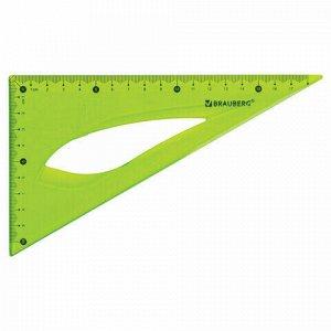 """Треугольник 30х18 см гибкий BRAUBERG """"FLEX"""", пластиковый, ассорти, европодвес, 210677"""