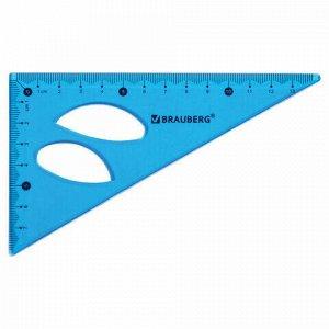 """Набор чертежный средний гибкий BRAUBERG """"FLEX"""" (линейка 20 см, треугольник, транспортир), ассорти, 210679"""