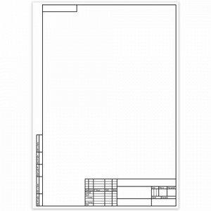 Папка для черчения БОЛЬШОГО ФОРМАТА (297х420 мм) А3, 10 л., 160 г/м2, рамка с вертикальным штампом, КТС, С2233