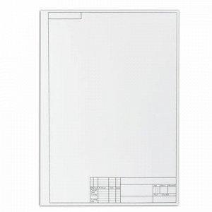 Папка для черчения БОЛЬШОГО ФОРМАТА (297х420 мм) А3, 10 л., 160 г/м2, рамка с вертикальным штампом, ПИФАГОР, 129229