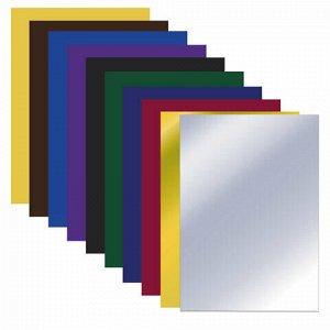 """Цветная бумага А4 газетная ВОЛШЕБНАЯ, 10 листов 10 цветов, на скобе, ПИФАГОР, 200х280 мм, """"Белочка"""", 128001"""