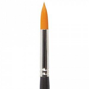 Кисть художественная проф. BRAUBERG ART CLASSIC, синтетика жесткая, круглая, № 8, длинная ручка, 200661