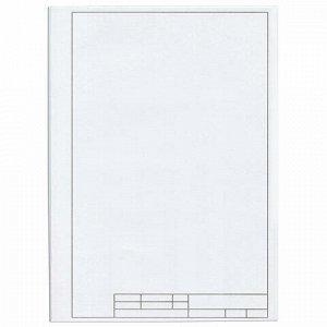 Папка для черчения А4, 210х297 мм, 10 л., 160 г/м2, рамка с вертикальным штампом, ПИФАГОР, 129231
