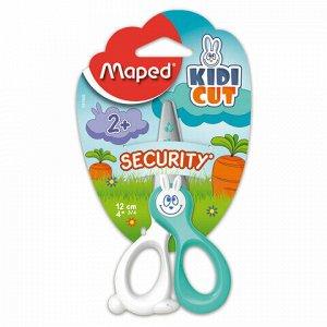 """Ножницы MAPED (Франция) """"Kidicut"""", 120 мм, безопасные лезвия, ассорти, картонная упаковка с европодвесом, 037800"""