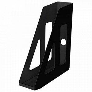 """Лоток вертикальный для бумаг СТАММ """"Актив"""" (253х70х250 мм), черный, ЛТ511"""