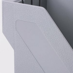 "Лоток вертикальный для бумаг BRAUBERG ""Basic"", 265х100х285 мм, серый, 237010"