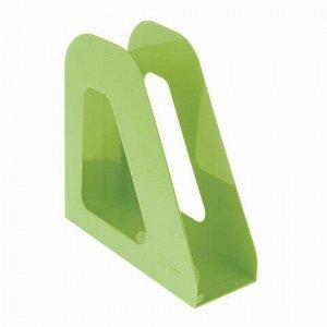 """Лоток вертикальный для бумаг СТАММ """"Фаворит"""" (235х240 мм), ширина 90 мм, зеленый, ЛТ720"""