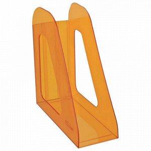 """Лоток вертикальный для бумаг СТАММ """"Фаворит"""" (235х240 мм), ширина 90 мм, тонированный оранжевый, ЛТ716"""