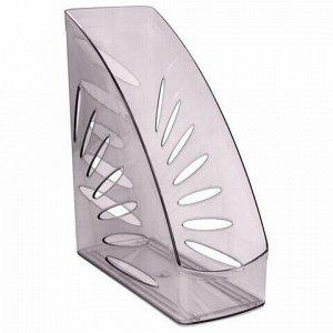 """Лоток вертикальный для бумаг, увеличенная ширина (245х263 мм), увеличенная ширина 110 мм СТАММ """"Тропик"""", тонированный серый, ЛТ353"""