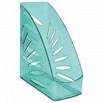 """Лоток вертикальный для бумаг, увеличенная ширина (245х263 мм), увеличенная ширина 110 мм СТАММ """"Тропик"""", тонированный зеленый, ЛТ361"""