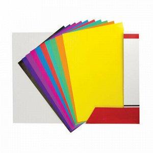 """Цветная бумага А4 мелованная (глянцевая), 20 листов 10 цветов, в папке, BRAUBERG, 210х297мм, """"Моя страна"""", 129928"""