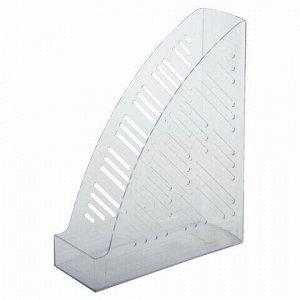 """Лоток вертикальный для бумаг BRAUBERG """"Standard+"""", 250х90х300 мм, прозрачный, 237227"""