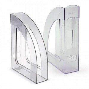 """Лоток вертикальный для бумаг СТАММ """"Респект"""" (290х70х220 мм), прозрачный, ЛТ144"""