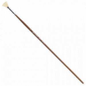 Кисть художественная профессиональная BRAUBERG ART CLASSIC, щетина, веерная, № 2, длинная ручка, 200742
