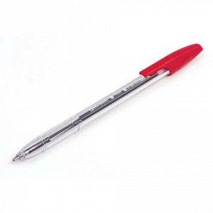 """Ручка шариковая BRAUBERG """"X-333"""", КРАСНАЯ, корпус прозрачный, узел 0,7 мм, линия письма 0,35 мм, 142407"""