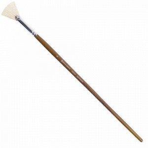 Кисть художественная профессиональная BRAUBERG ART CLASSIC, щетина, веерная, № 8, длинная ручка, 200745