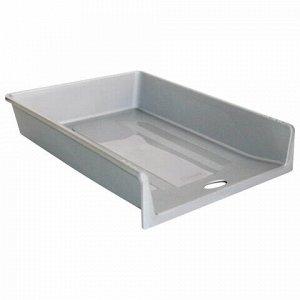 """Лоток горизонтальный для бумаг СТАММ """"1 в 1"""", А4 (340х265х60 мм), серый, ЛТ151"""