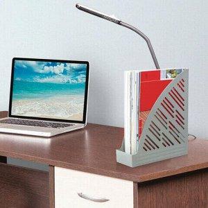 """Лоток вертикальный для бумаг BRAUBERG """"Standard+"""", 250х90х300 мм, серый, 237225"""