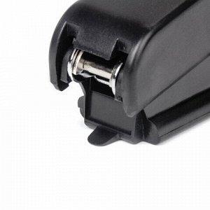 Степлер №10 ОФИСНАЯ ПЛАНЕТА, до 12 листов, с антистеплером, черный, 227621