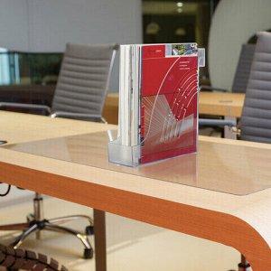 """Лоток вертикальный для бумаг BRAUBERG """"Office"""", 255х95х290 мм, прозрачный, 237231"""