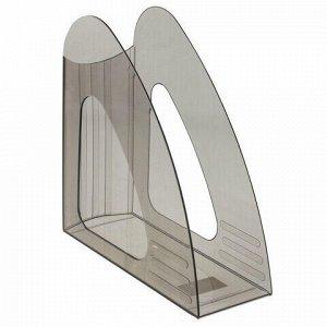 "Лоток вертикальный для бумаг BRAUBERG ""Delta"", 240х90х240 мм, тонированный серый, 237241"