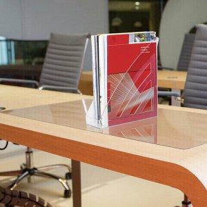 """Лоток вертикальный для бумаг BRAUBERG """"Office style"""", 245х90х285 мм, прозрачный, 237280"""