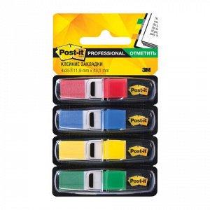 Закладки клейкие POST-IT Professional, пластиковые, 12 мм, 4 цв. х 35 шт., 70071353570