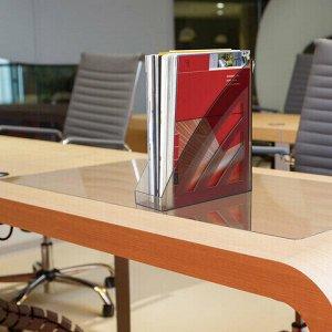 """Лоток вертикальный для бумаг BRAUBERG """"Office style"""", 245х90х285 мм, тонированный серый, 237281"""