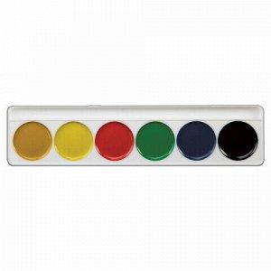 """Краски акварельные ЛУЧ """"Zoo"""", 6 цветов, медовые, без кисти, картонная коробка, 19С1246-08"""