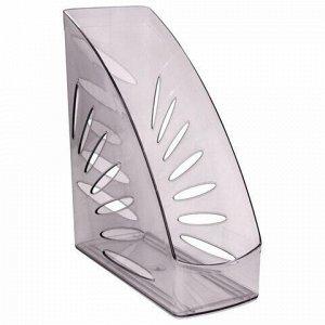 """Лоток вертикальный для бумаг, увеличенная ширина (245х263 мм), увеличенная ширина 110 мм СТАММ """"Тропик"""", серый, ЛТ351"""