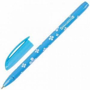 """Ручка шариковая масляная BRAUBERG """"FRUITY SF"""", СИНЯЯ, с узором, узел 1 мм, линия письма 0,5 мм, 142653"""