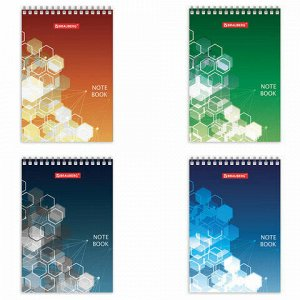 """Блокнот МАЛЫЙ ФОРМАТ (97х145 мм) А6, 60 л., гребень, картон, клетка, BRAUBERG, """"Спектр"""", 129826"""