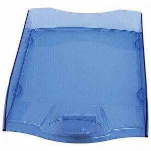 "Лоток горизонтальный для бумаг BRAUBERG ""Delta"", A4 (340х270х60 мм), тонированный синий, 237264"