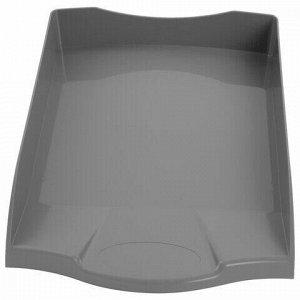 """Лоток горизонтальный для бумаг BRAUBERG """"Delta"""", A4 (340х270х60 мм), серый, 237267"""