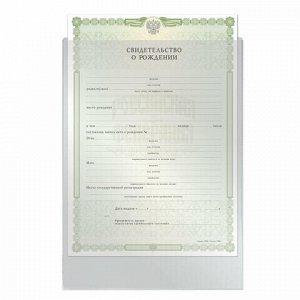 """Папка-файл для свидетельства о рождении, 190х263 мм, без отверстий, ПВХ 120 мкм, """"ДПС"""", 1746"""