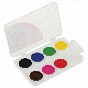 """Краски акварельные ГАММА """"Мультики"""", NEW, 8 цветов, медовые, без кисти, пластиковая коробка, 211046_8"""