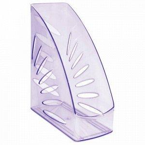 """Лоток вертикальный для бумаг, увеличенная ширина (245х263 мм), увеличенная ширина 110 мм СТАММ """"Тропик"""", тонированный фиолетовый, ЛТ362"""