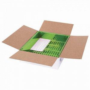 """Лотки горизонтальные для бумаг, КОМПЛЕКТ 3 шт., 340х270х70 мм, тонированный зеленый, BRAUBERG """"Office"""", 237261"""