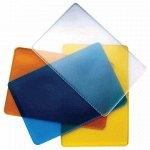 Обложка-карман для проездных документов, карт, пропусков, 98х65 мм, ПВХ, прозрачная, ассорти, ДПС, 1164.250.Ф