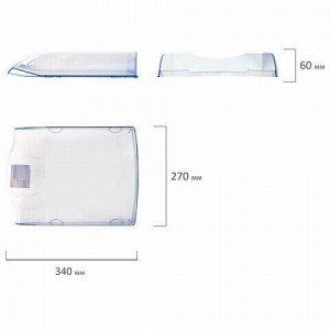 """Лоток горизонтальный для бумаг BRAUBERG """"Delta"""", A4 (340х270х60 мм), прозрачный, 237262"""