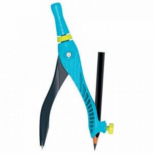 """Циркуль MAPED (Франция) """"Kid'z Eazy 360"""", 140 мм, пластиковый, универсальный держатель + карандаш, ассорти, 181611"""