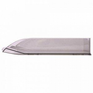 """Лоток горизонтальный для бумаг BRAUBERG """"Delta"""", A4 (340х270х60 мм), тонированный серый, 237265."""