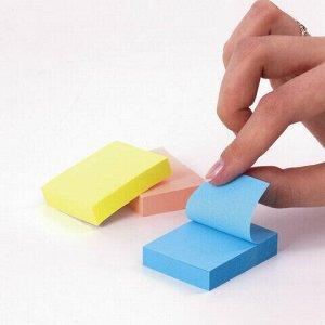 Блоки самоклеящиеся (стикеры) BRAUBERG 38х51 мм, 100 листов, НАБОР 12 штук, 3 неоновых цвета, 111345